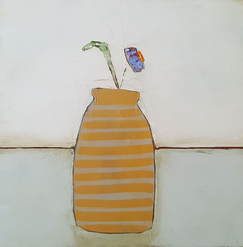 Eithne  Roberts - Stripes on Yellow