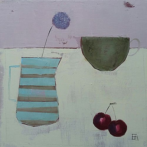 Eithne  Roberts - Stripey Jug and Cherries