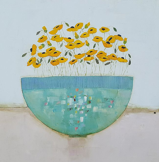 Eithne  Roberts - Summer in a blue bowl