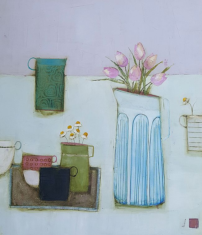 Eithne  Roberts - Tea and tulips