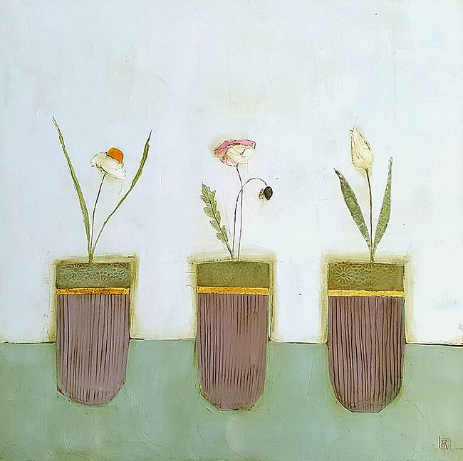 Eithne  Roberts - Three flower pots