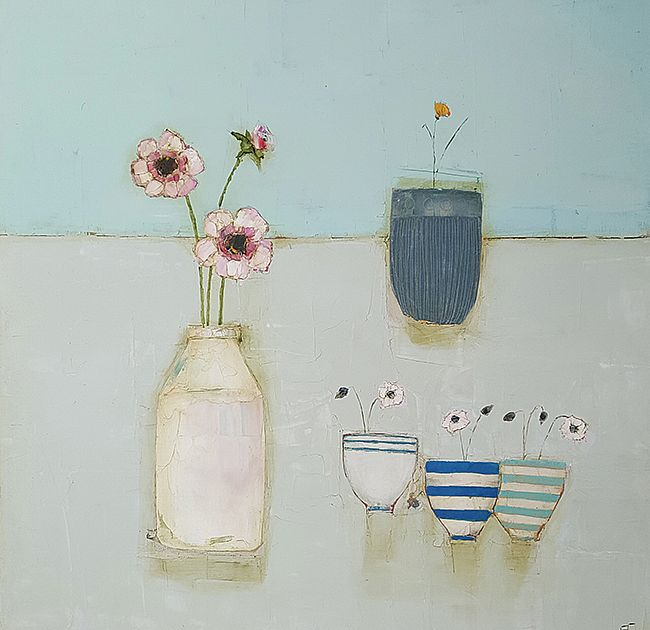 Eithne  Roberts - Tiny cups and large white bottle