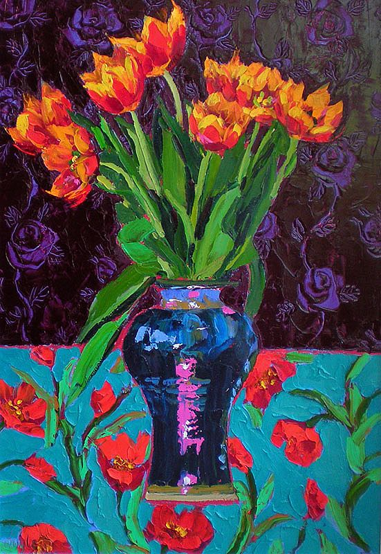Lucy Doyle - Red-Gold Tulips