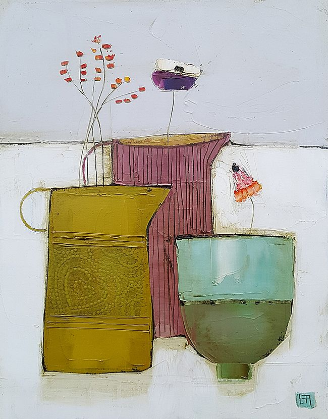 Eithne  Roberts - Two jugs and little green cup