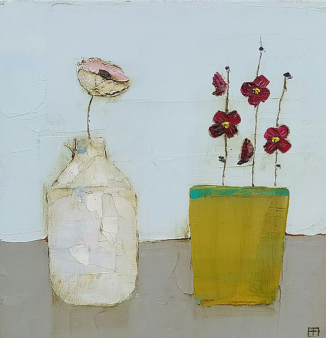 Eithne  Roberts - White bottle yellow pot
