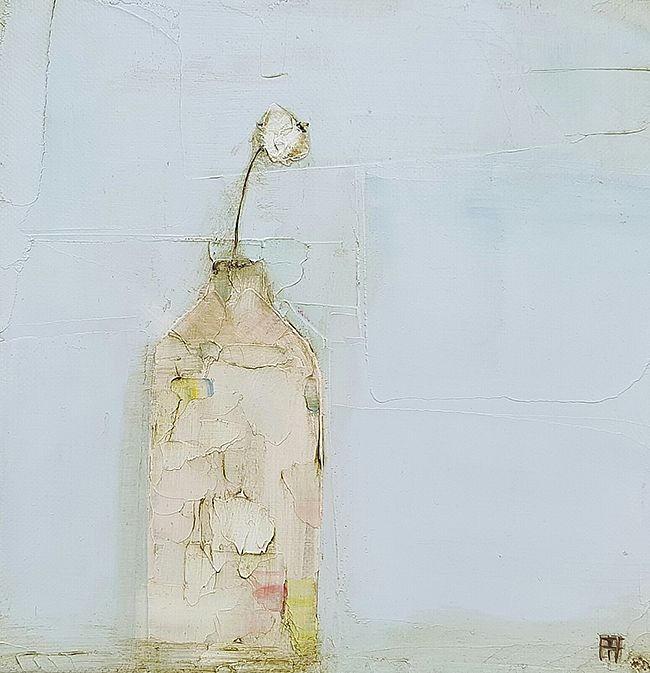 Eithne  Roberts - White flower bottle