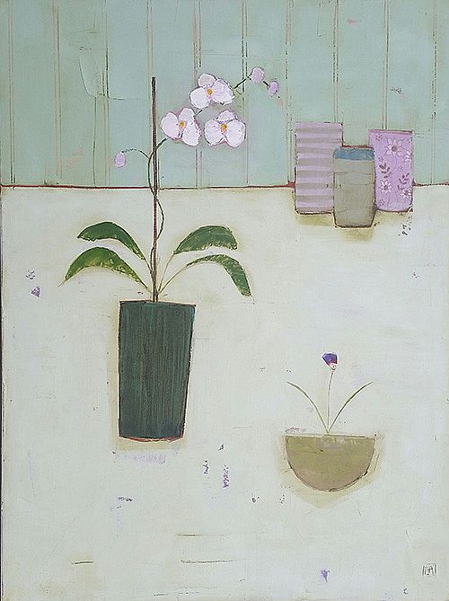 Eithne  Roberts - White Orchid Table