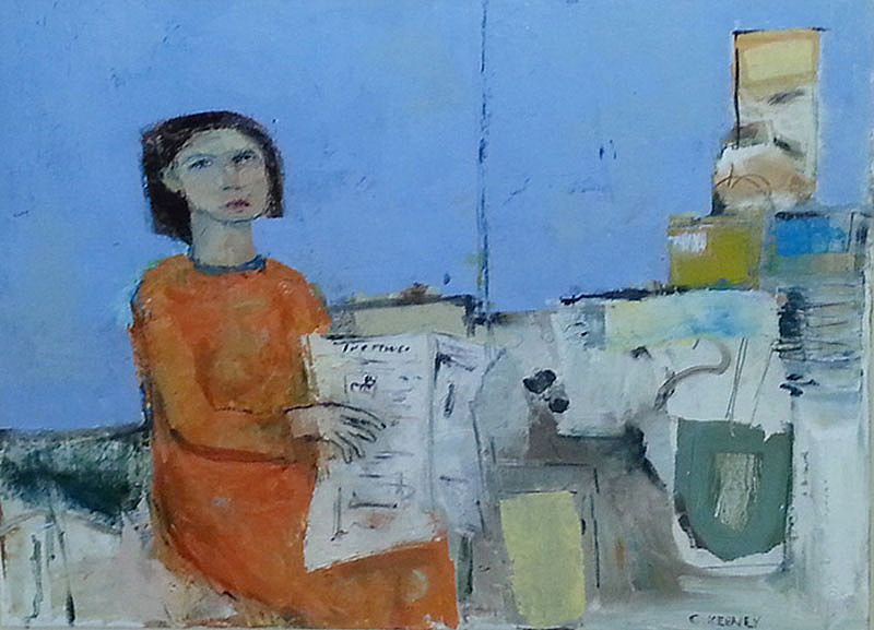 Christy Keeney - Woman with Newspaper