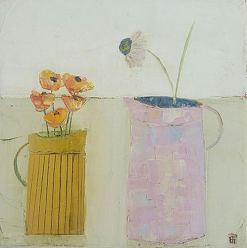 Eithne  Roberts - Yellow jug pink jug