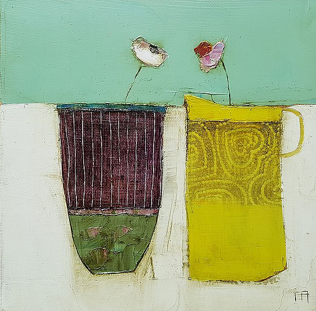 Eithne  Roberts - Yellow jug purple pot