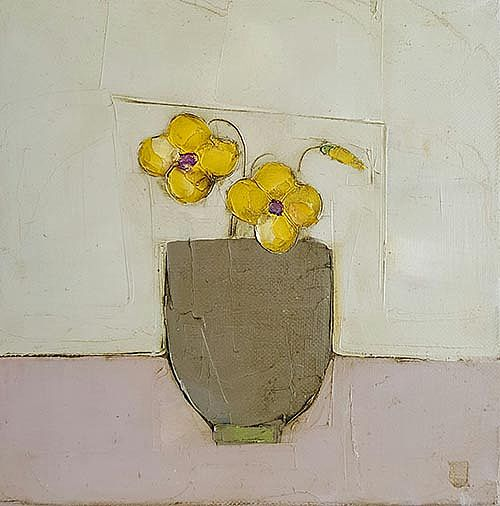 Eithne  Roberts - Yellow pansies