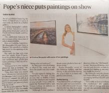 The Irish Times - Pope's niece puts paintings on show